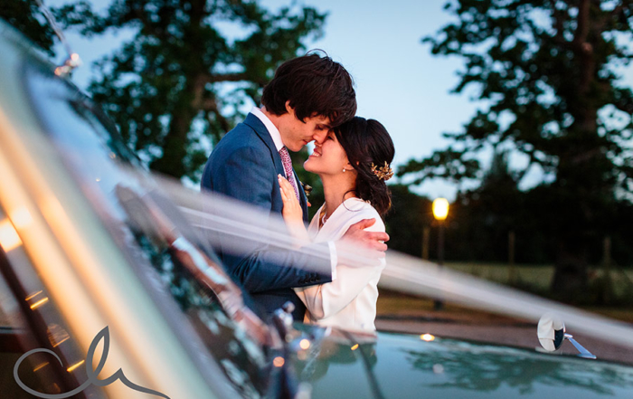 newlyweds have some romantic time together at The Secret Garden Kent