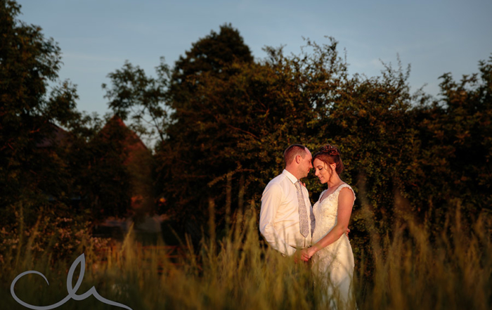 Newlywed couple have portrait shoot at their Kent Wedding