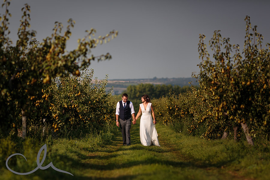newlywed portrait at Newhouse Lane Farm in Canterbury