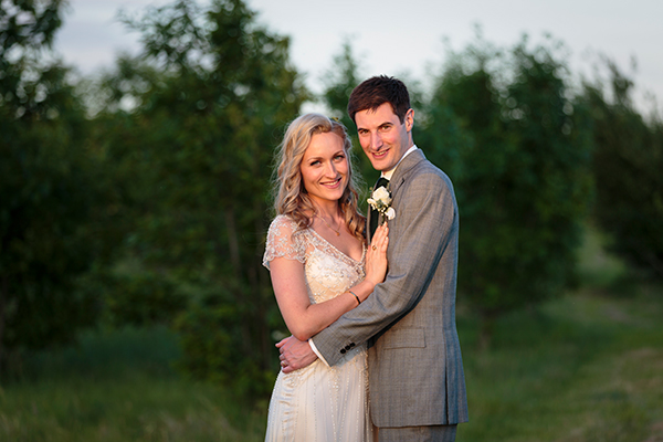 Joss & NIck's wedding portrait at Bradbourne House Kent