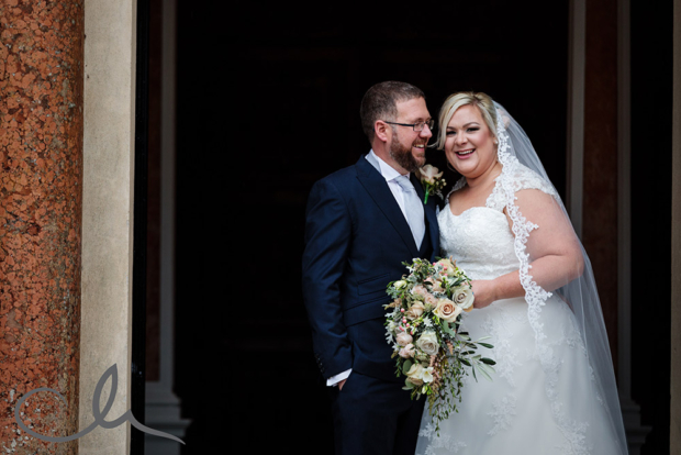 Broome Park Wedding Photo of newly wed couple
