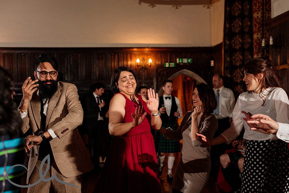 guests dance to Iranian music at a Lympne Castle