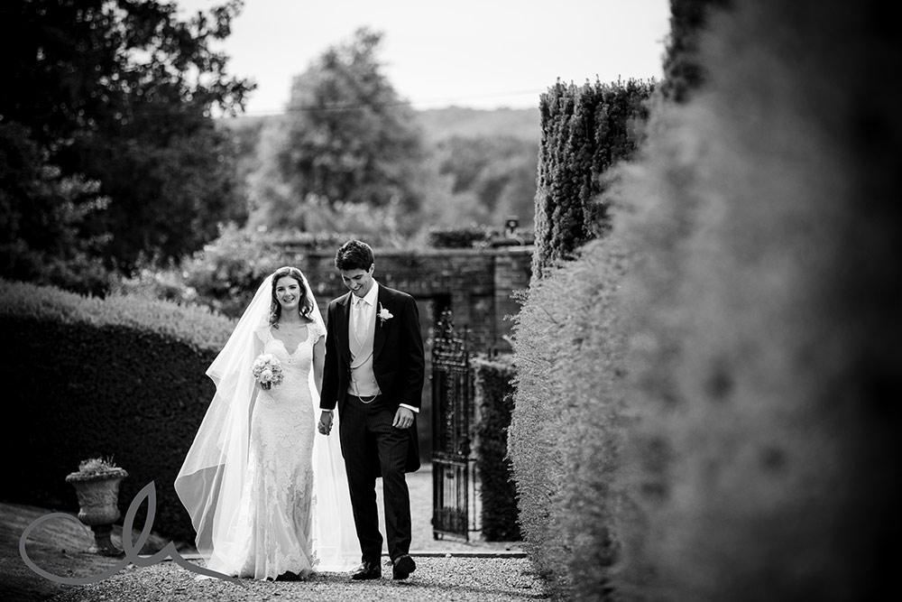 newley weds are captured together at their romantic wedding at Squerrys Court