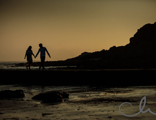 Eliza & Steve's Engagement photography at St Ouens, Jersey