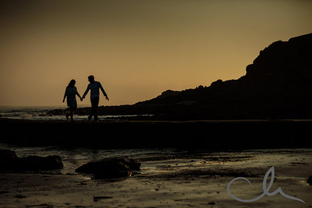 Eliza and Steve's Engagement Photography St Ouens Jersey