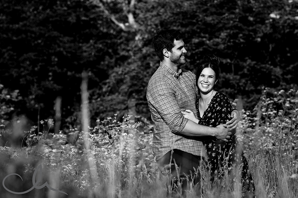 James and Maddy's countryside pre-wedding photography