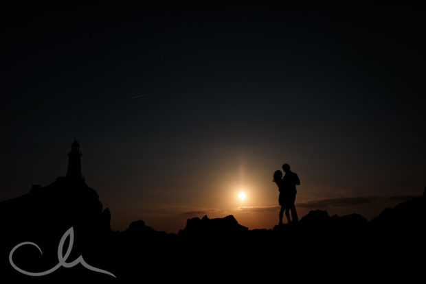 Engagement photography at Corbiere Lighthouse Jersey